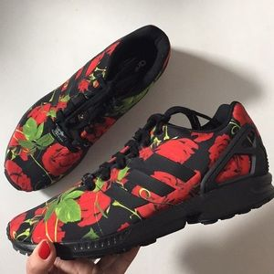 ADIDAS Torsion ZX Flux Black/Red Rose Sneakers 9.5